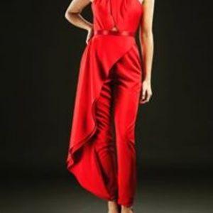 RACHEL ALLAN Couture - Red Pant Suit - Size 0